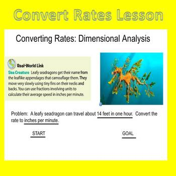 Convert Rates Lesson Plan