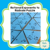 Convert Rational Exponents to Radical Expressions Puzzle