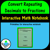 Convert Repeating Decimals to Fractions Foldable For Inter