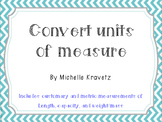 Convert Units of Measure Scavenger Hunt