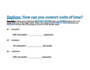 Convert Units of Time PowerPoint