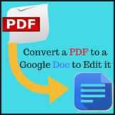 Convert a PDF to a Google Doc for ease of editing
