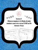 Convert the Chinese numbers to Hindu-Arabic Numbers and vice versa (1-50)