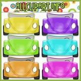 $1.00 BARGAIN BIN - Convertible Cars (Bright) Clip Art
