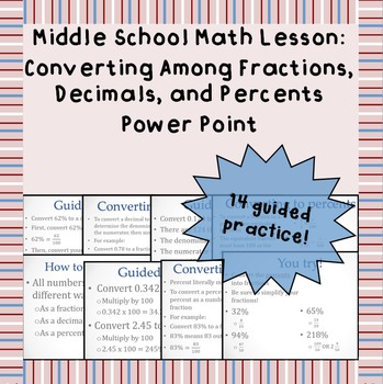 Converting Among Fractions, Decimals, and Percents - A Power Point Lesson