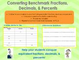 Converting Benchmark Fractions, Decimals, and Percents