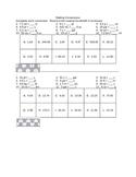 Converting Between Customary and Metric VersaTile Worksheet
