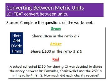 Converting Between Metric Units