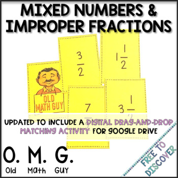 Mixed Numbers and Improper Fractions Card Game