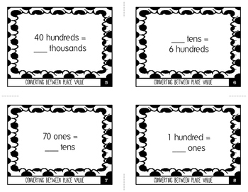Converting Between Place Values: Ones, Tens, Hundreds, & Thousands