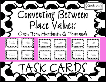 Converting Between Place Values: Ones, Tens, Hundreds, & T