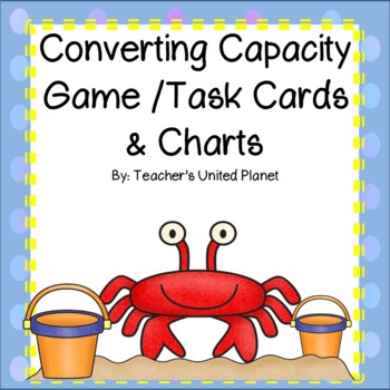 Converting Capacity - Game/Task Cards and Charts!