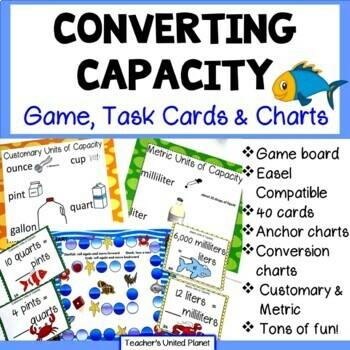 Converting Capacity - Game/Task Cards and Charts!