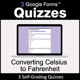 Converting Celsius to Fahrenheit - 3 Google Forms Quizzes