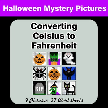 Converting Celsius to Fahrenheit - Halloween Mystery Pictures