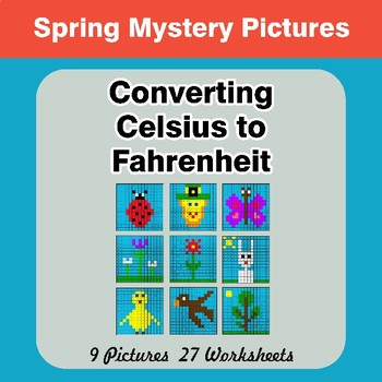 Converting Celsius to Fahrenheit - Spring Math Mystery Pictures