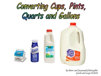 Converting Cups, Pints, Quarts, and Gallons
