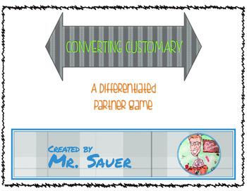 Converting Customary: Converting Units Math Partner Game