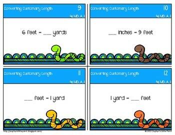 Converting Customary Length {Math Task Cards}