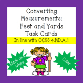 Converting Customary Length Measurements: Yards / Feet Task Cards
