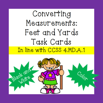 Converting Customary Length Measurements: Yards / Feet Task Cards