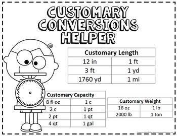 Convert Measurements Game: Customary Units: 5.MD.A.1: 5th Grade Game