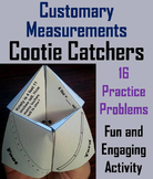Converting Customary Measurements Practice Activity 4th 5th 6th 7th Grade