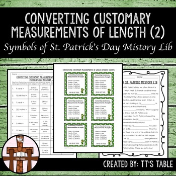 Converting Customary Measurements of Length St. Patrick's Day Mistory Lib (2)
