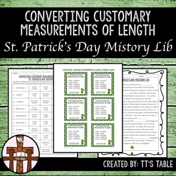 Converting Customary Measurements of Length St. Patrick's Day Mistory Lib