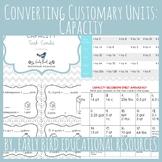 Converting Customary Units: Capacity Task Cards