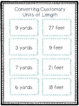 Converting Customary Units of Length Activity