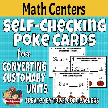 Converting Customary Units Poke Cards