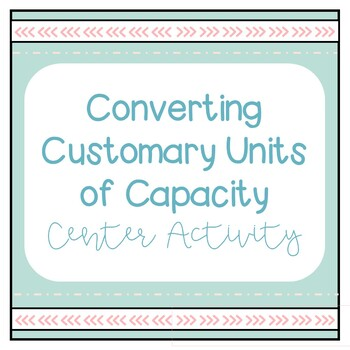 Converting Customary Units of Capactiy Activity