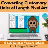 Converting Customary Units of Length Pixel Art Digital Activity