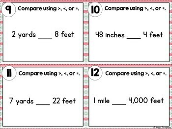 Converting Customary Units of Length Task Cards