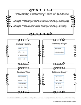 Converting Customary Units of Measure