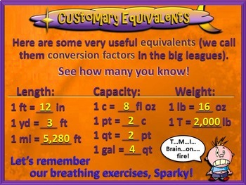 Converting Customary Units of Measure - 5th Grade CCSS (PowerPoint Only)