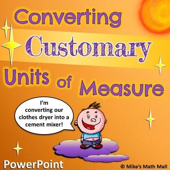 Converting Customary Units of Measure - 5th Grade CCSS (Po