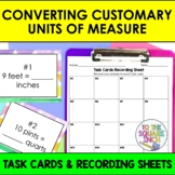 Converting Customary Units of Measure Task Cards