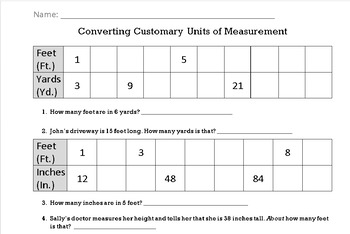 Converting Customary Units of Measurement