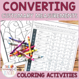 Converting Customary Units of Measurement Coloring Activities