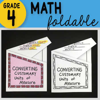 Math Doodle - Converting Customary Units of Measurement ~ INB Foldable Notes ~