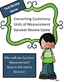 Converting Customary Units of Measurement (U.S.) Review Game: Survivor Theme