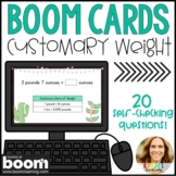 Converting Customary Units of Weight Digital Boom Cards | 4th and 5th Grade