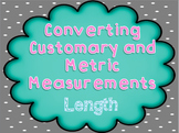 Converting Customary and Metric Length Measurements PowerPoint - TEKS 4.8b