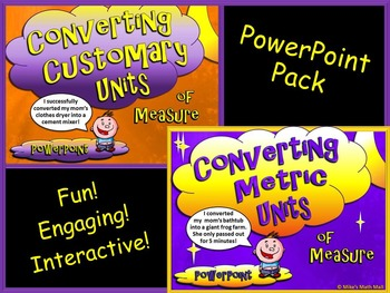 Converting Customary and Metric Units of Measure (PowerPoi