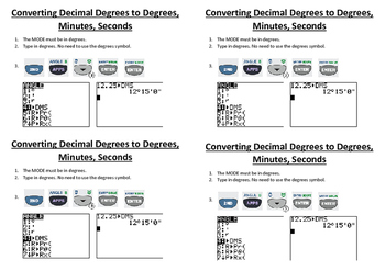Converting Decimal Degrees to Degrees, Minutes, and Seconds
