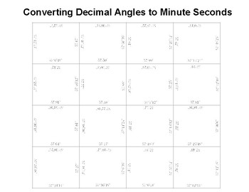 Converting Decimal Degrees to Minute Seconds