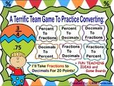 Converting Decimals, Fractions and Percent Cooperative Team Games