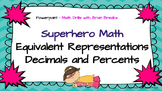 Converting Decimals - Percents - Math Skill Drill with Brain Break TEK 6.4G